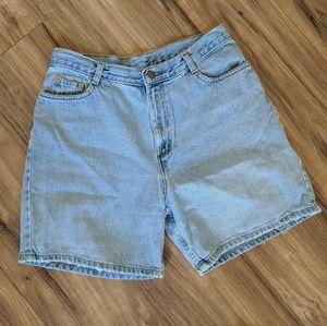 Vtg 90's Highwaisted Distressed Jean Shorts